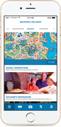 Seaworlds mobile user interface 01