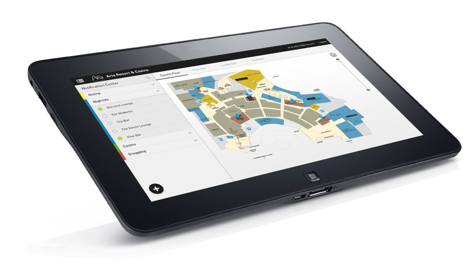 Aria user interface on tablet