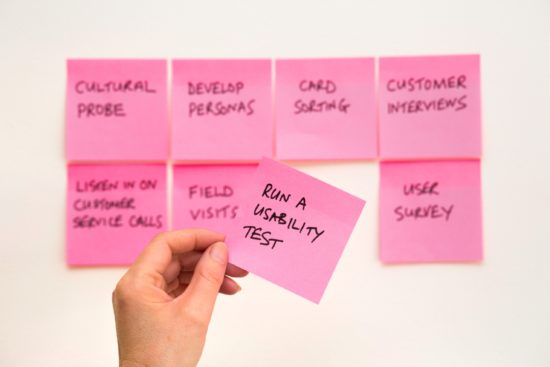 post-it about usability test