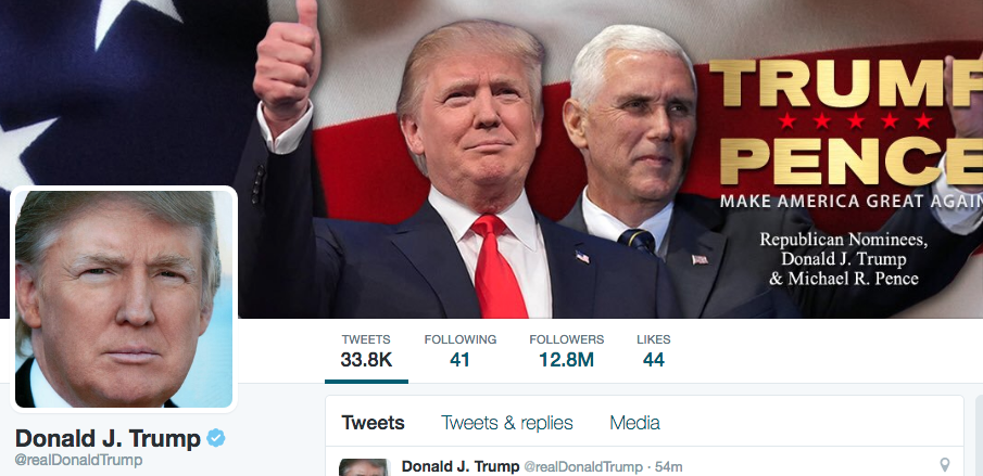 2016 election donald trump twitter