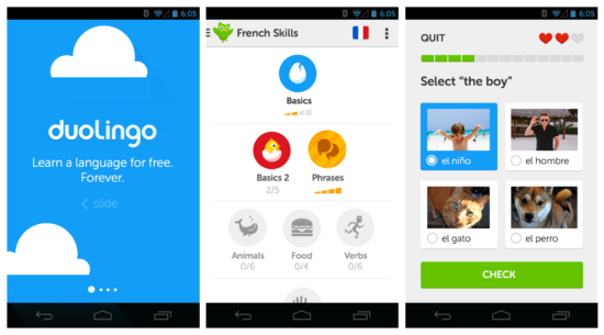 duolingo app screens for new years resolutions