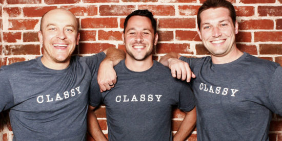 Classy founders in Classy tshirts