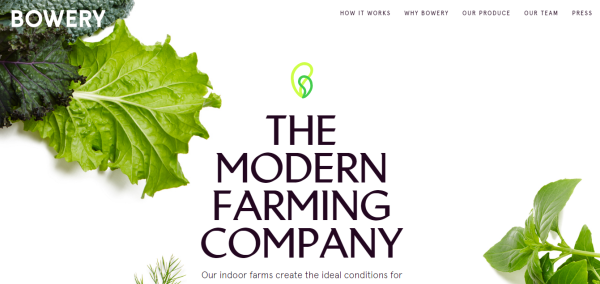 Bowery agriculture startups