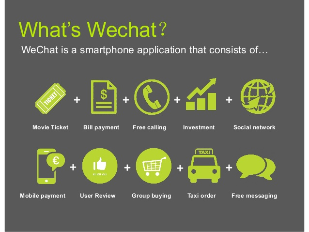 WeChat value propositions