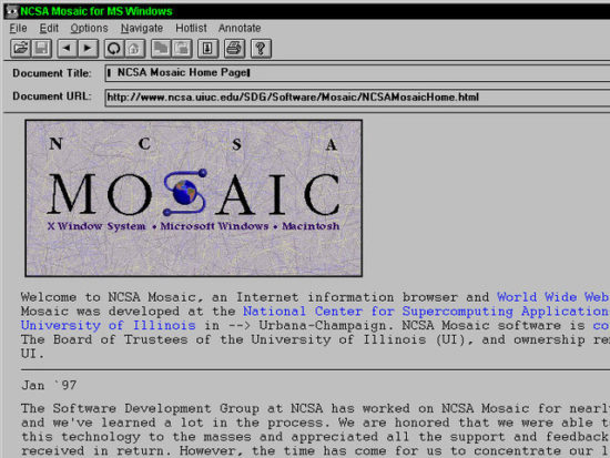 Mosaic software program beta version