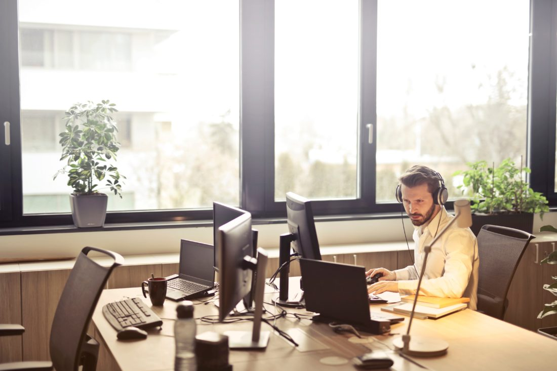 man using cloud-based to increase productivity