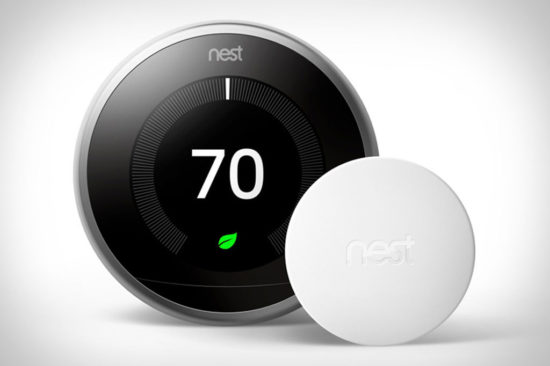 nest thermostat and sensor is one of the best tech gifts 2018